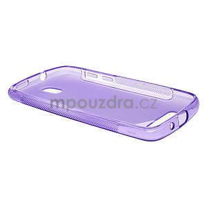 Gélové puzdro pre HTC Desire 500- fialové - 3