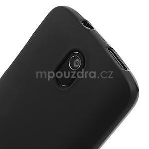 Gélové matné puzdro pre HTC Desire 500- čierné - 3