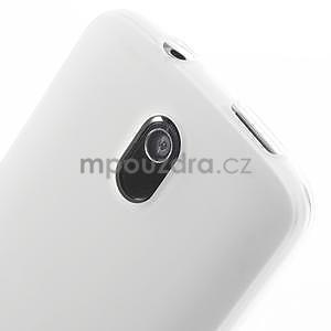 Gélové matné puzdro pre HTC Desire 500- biele - 3