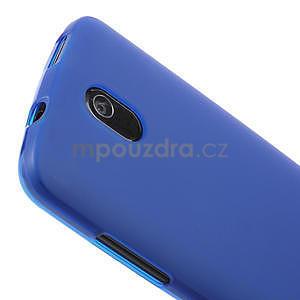 Gélové matné puzdro pre HTC Desire 500- modré - 3
