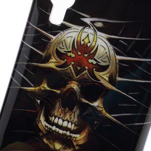 Gélové puzdro pre LG Optimus L5 Dual E455- lebka - 3