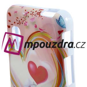 Gelová puzdro pre LG Optimus L5 Dual E455- labutí srdce - 3