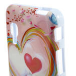Gelová puzdro pre LG Optimus L5 Dual E455- labutí srdce - 3/4