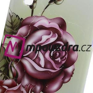 Gelová puzdro pre LG Optimus L5 Dual E455- Růže - 3