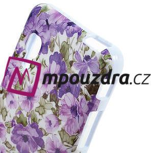 Gelová puzdro pre LG Optimus L5 Dual E455- živé květy - 3