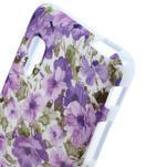 Gelová puzdro pre LG Optimus L5 Dual E455- živé květy - 3/4