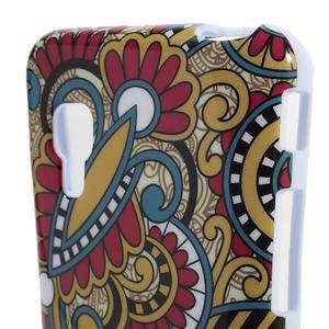 Gelová puzdro pre LG Optimus L5 Dual E455- kmenové květy - 3