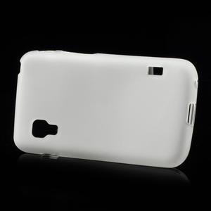 Matné gélové puzdro pre LG Optimus L5 Dual E455- biele - 3