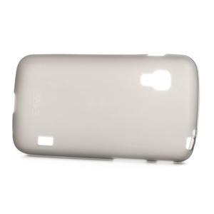 Matné gélové puzdro pre LG Optimus L5 Dual E455- sivé - 3