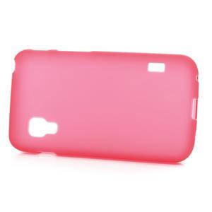 Matné gélové puzdro pre LG Optimus L5 Dual E455- červené - 3