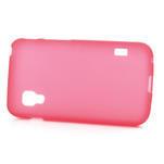 Matné gélové puzdro pre LG Optimus L5 Dual E455- červené - 3/4