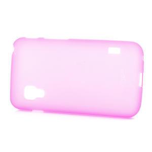 Matné gélové puzdro pre LG Optimus L5 Dual E455- ružové - 3