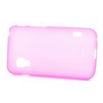 Matné gélové puzdro pre LG Optimus L5 Dual E455- ružové - 3/4