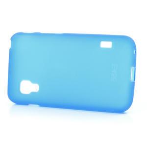 Matné gélové puzdro pre LG Optimus L5 Dual E455- modré - 3