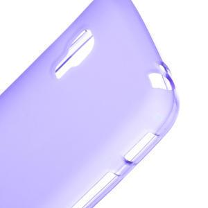 Matné gélové puzdro pre LG Optimus L5 Dual E455-fialová - 3