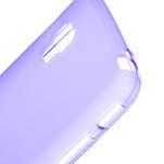 Matné gélové puzdro pre LG Optimus L5 Dual E455-fialová - 3/4