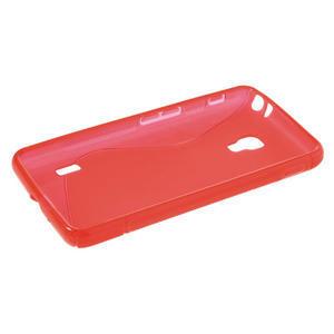 Gélové S-line puzdro na LG Optimus F6 D505- červené - 3