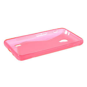Gélové S-line puzdro pre LG Optimus F6 D505- ružové - 3