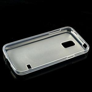 Gelové matné pouzdro na Samsung Galaxy S5 mini G-800- transparentní - 3