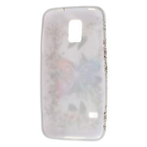 Gélové puzdro pre Samsung Galaxy S5 mini G-800- farebný motýl - 3