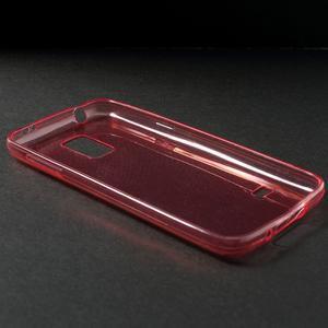 Gelové 0.6mm pouzdro na Samsung Galaxy S5 mini G-800- červené - 3
