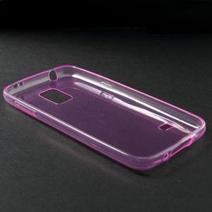 Gelové 0.6mm pouzdro na Samsung Galaxy S5 mini G-800- růžové - 3
