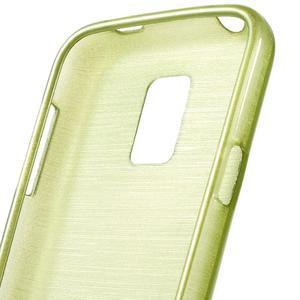 Kartáčové puzdro pre Samsung Galaxy S5 mini G-800- zelené - 3