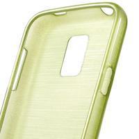 Kartáčové puzdro pre Samsung Galaxy S5 mini G-800- zelené - 3/4