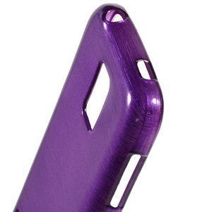 Kartáčové pouzdro na Samsung Galaxy S5 mini G-800- fialové - 3