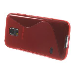 Gélové S-line puzdro pre Samsung Galaxy S5 mini G-800- červené - 3