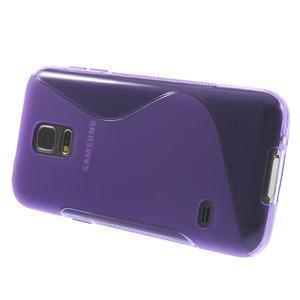 Gelové S-line pouzdro na Samsung Galaxy S5 mini G-800- fialové - 3