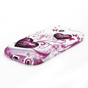 Gélové puzdro na Samsung Galaxy S3 mini i8190- dvě srdce - 3