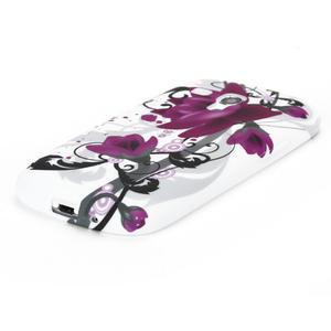 Gélové puzdro na Samsung Galaxy S3 mini i8190- fialový květ - 3