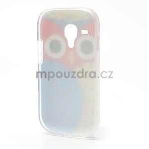 Gélové puzdro pre Samsung Galaxy S3 mini / i8190 - modrá Sova - 3