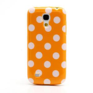 Gélový Puntík pro Samsung Galaxy S4 mini i9190- oranžové - 3