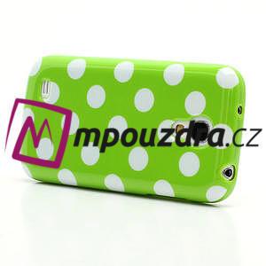 Gelový Puntík pro Samsung Galaxy S4 mini i9190- zelené - 3