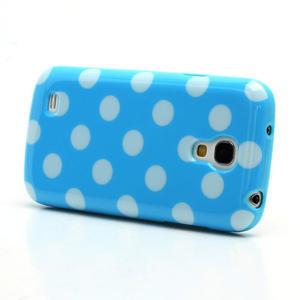 Gélový Puntík pro Samsung Galaxy S4 mini i9190- modrá - 3