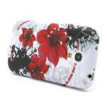 Gelové pouzdro pro Samsung Galaxy S4 mini i9190- červený květ - 3/5