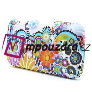 Gélové puzdro pro Samsung Galaxy S4 mini i9190- farebné kvety - 3