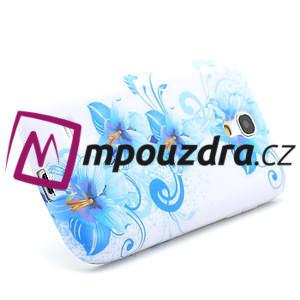 Gélové puzdro pro Samsung Galaxy S4 mini i9190- modrá lilie - 3