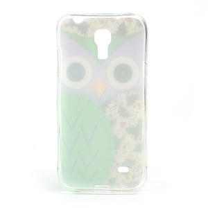 Gélové puzdro pre Samsung Galaxy S4 mini i9190- sova zelená - 3