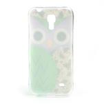 Gélové puzdro pre Samsung Galaxy S4 mini i9190- sova zelená - 3/5