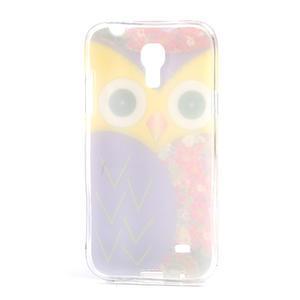 Gélové puzdro pre Samsung Galaxy S4 mini i9190- sova fialová - 3
