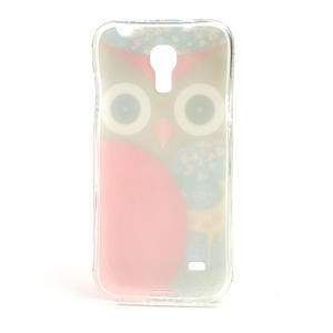 Gélové puzdro pre Samsung Galaxy S4 mini i9190- sova červená - 3