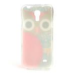 Gélové puzdro pre Samsung Galaxy S4 mini i9190- sova červená - 3/5