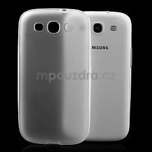 Gelové rámované pouzdro na Samsung Galaxy S3 i9300- transparentní - 3
