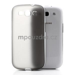 Gélové rámované puzdro pre Samsung Galaxy S3 i9300- šedé - 3
