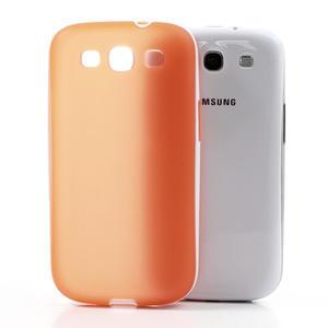 Gélové rámované puzdro pre Samsung Galaxy S3 i9300- oranžové - 3