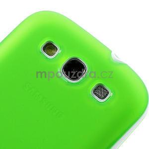 Gelové rámované pouzdro na Samsung Galaxy S3 i9300- zelené - 3