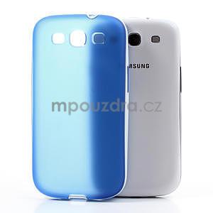 Gelové rámované pouzdro na Samsung Galaxy S3 i9300- modré - 3